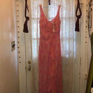LAUNDRY BY SHELLI SEGAL(NEW)2 TONE PINK SILK DRESS